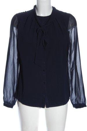Jake*s Langarm-Bluse blau Casual-Look