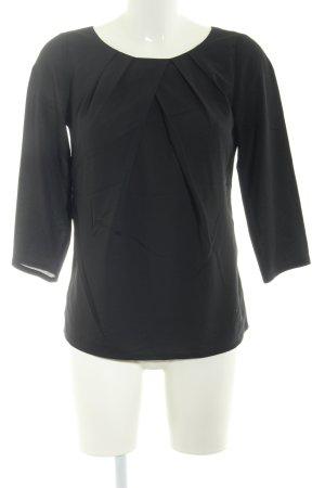 Jake*s Langarm-Bluse schwarz Elegant