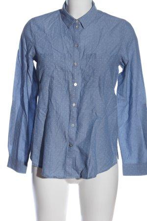 Jake*s Langarmhemd blau Punktemuster Business-Look
