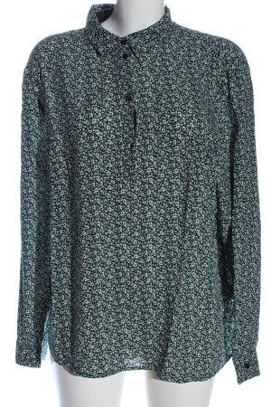 Jake*s Langarmhemd grün-weiß abstraktes Muster Casual-Look