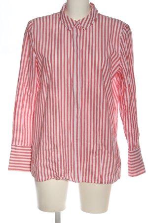 Jake*s Langarmhemd rot-weiß Streifenmuster Business-Look