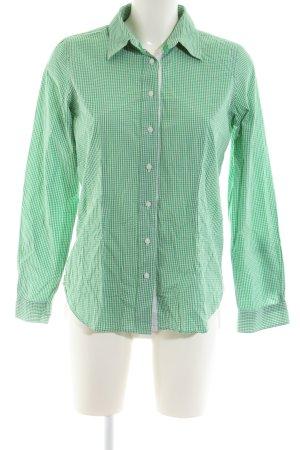 Jake*s Langarmhemd grün Allover-Druck Business-Look