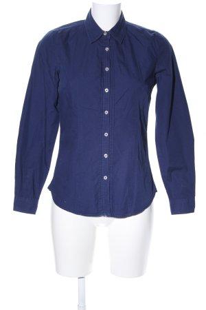 Jake*s Langarmhemd blau Business-Look