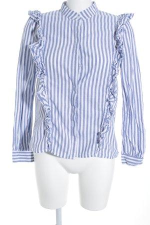 Jake*s Langarmhemd hellblau-weiß Streifenmuster klassischer Stil