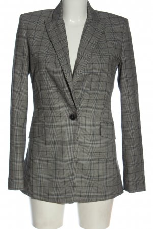Jake*s Blazer lungo grigio chiaro motivo a quadri stile casual