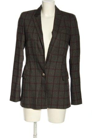 Jake*s Lange blazer bruin-rood geruite print casual uitstraling