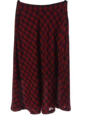 Jake*s Spódnica midi czerwony-czarny Na całej powierzchni W stylu casual