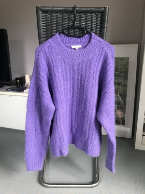 Jake*s Coarse Knitted Sweater lilac-purple