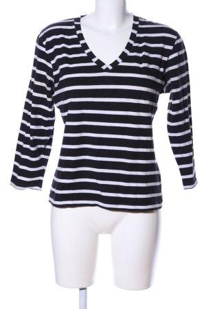 Jake*s Stripe Shirt black-white striped pattern casual look