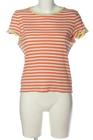 Jake*s Stripe Shirt light orange-white striped pattern casual look