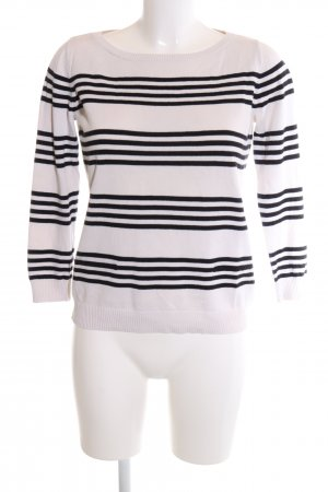 Jake*s Ringelshirt weiß-schwarz Streifenmuster Casual-Look