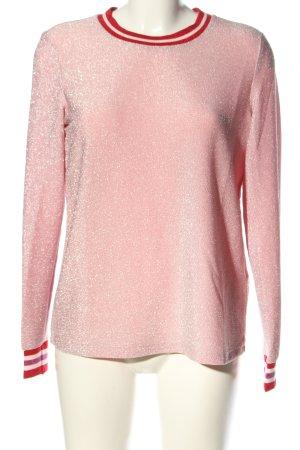 Jake*s Rundhalspullover pink-rot Streifenmuster Casual-Look