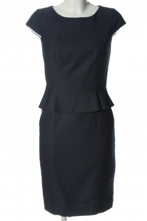 Jake*s Peplum Dress blue weave pattern casual look
