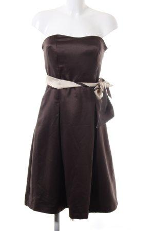 Jake*s schulterfreies Kleid braun-creme Elegant