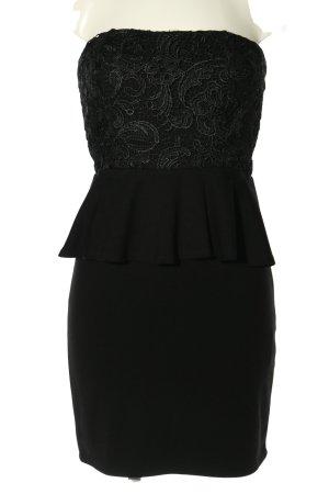 Jake*s schulterfreies Kleid schwarz Mustermix Elegant