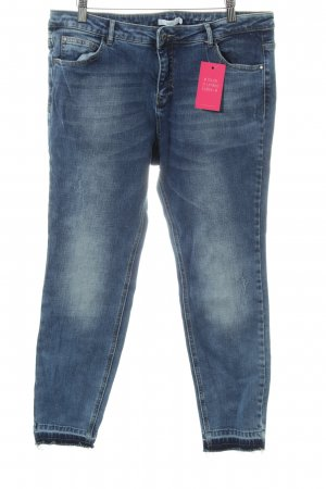 Jake*s Slim Jeans blau Farbverlauf Casual-Look