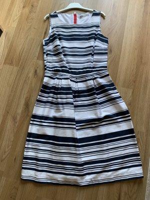 Jake*s Sukienka z rękawem balonowym ciemnoniebieski-biały
