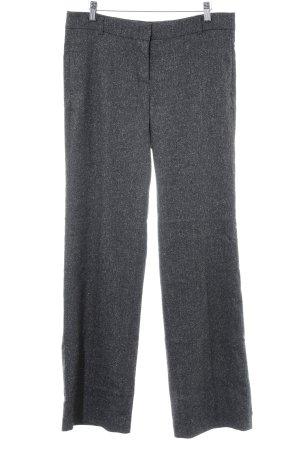 Jake*s Stoffhose schwarz-grau meliert schlichter Stil