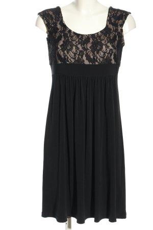 Jake*s Stretch jurk zwart bloemenprint elegant