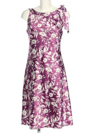 Jake*s Stretch jurk lila-wit volledige print elegant