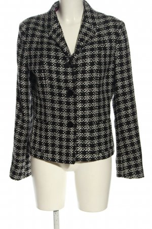 Jake*s Knitted Blazer black-light grey check pattern elegant