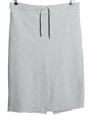 Jake*s Knitted Skirt light grey flecked casual look