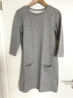 Jake*s Vestido de tela de sudadera gris claro