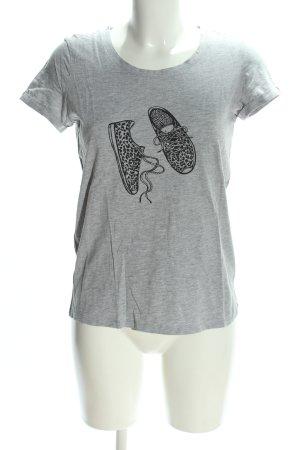 Jake*s T-Shirt hellgrau meliert Casual-Look