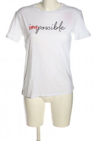 Jake*s T-Shirt Schriftzug gedruckt Casual-Look