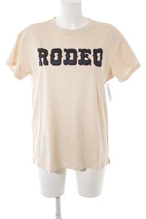 Jake*s T-Shirt apricot Schriftzug gedruckt Casual-Look
