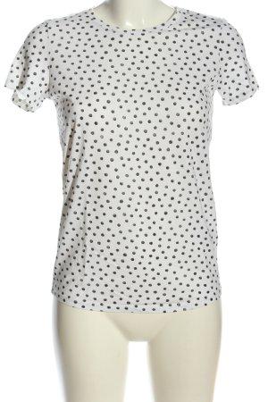 Jake*s T-Shirt weiß-schwarz Allover-Druck Casual-Look