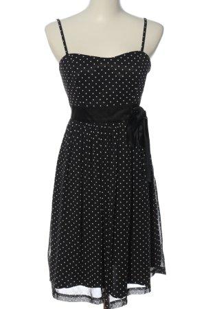 Jake*s Trägerkleid schwarz-weiß Punktemuster Elegant