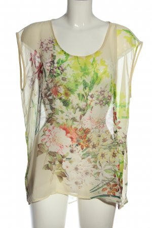 Jake*s Transparenz-Bluse Allover-Druck Casual-Look