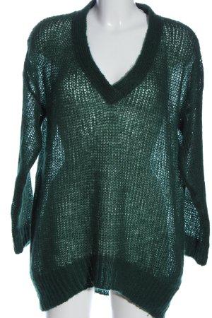 Jake*s V-Ausschnitt-Pullover grün Casual-Look