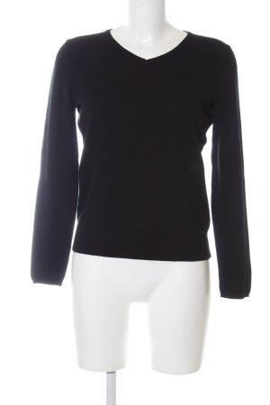 Jake*s V-Ausschnitt-Pullover schwarz Casual-Look