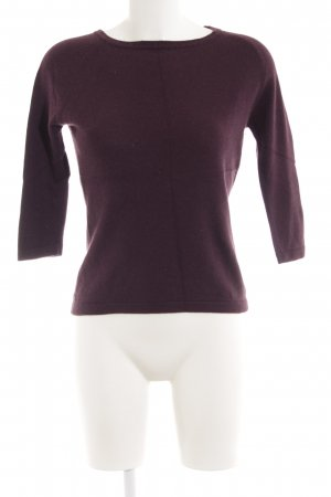 Jake*s Pull en laine rouge mûre style simple