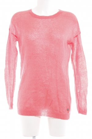 Jake*s Wollpullover neonpink Street-Fashion-Look