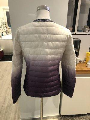 Blouson blanc-violet