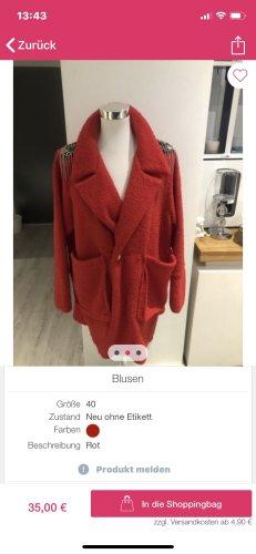 Veste chemisier rouge