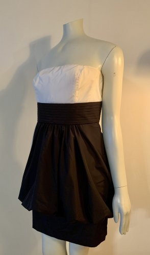 Jakes Sukienka z dekoltem typu bandeau biały-czarny