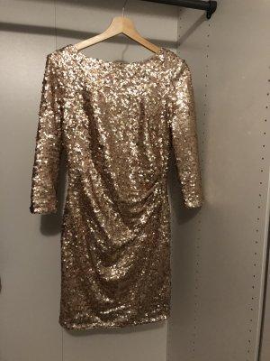 Jakes Kleid paillettenkleid Gold