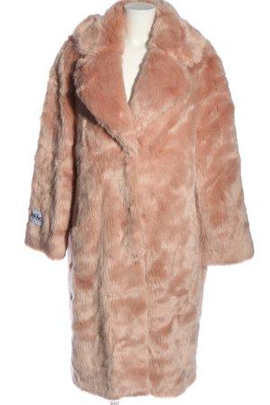 jakke Manteau en fausse fourrure rose chair style décontracté