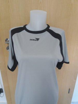 Jako Sports Shirt light grey-black polyester