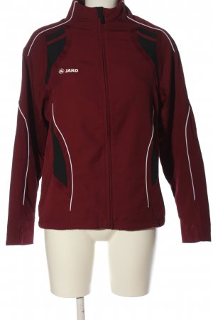 Jako Sports Jacket red-black printed lettering casual look