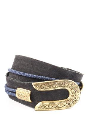 jakoby Cinturón de cuero de imitación estampado a rayas look casual