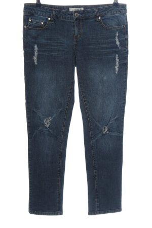 jalate Jeansy biodrówki niebieski W stylu casual
