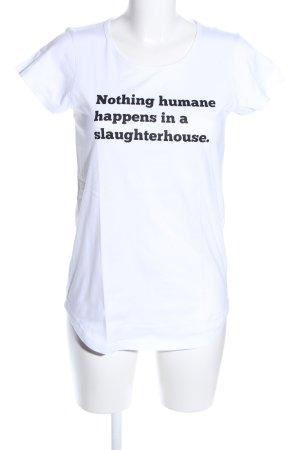James Aspey T-Shirt weiß Schriftzug gedruckt Casual-Look