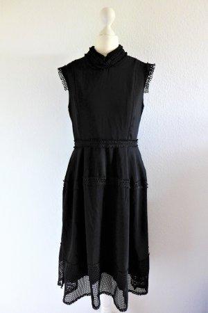 James Lakeland Boho Scandi Kleid Häkelspitze schwarz Gr. S 36