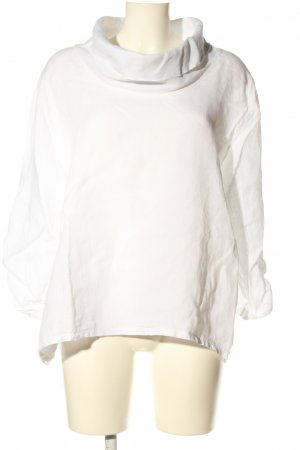 James Lakeland Blusa de lino blanco look casual