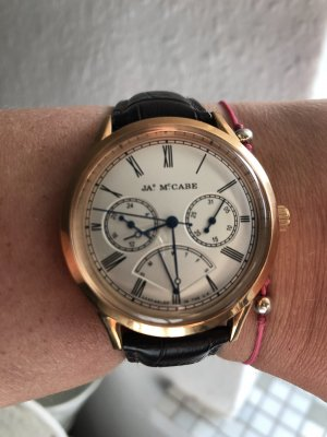 James Mc Cabe Watch With Leather Strap rose-gold-coloured-brown leather